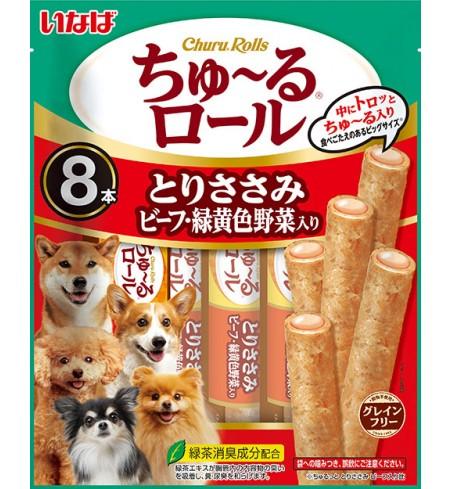 [강아지용] 이나바 츄르롤스 - 닭가슴살& 비프& 녹황색채소