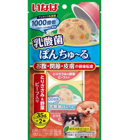 [강아지용] 이나바 유산균 퐁츄르 (유산균1000억-장/관절/피부 케어) - 닭가슴살&채소&비프