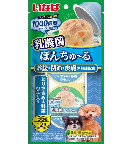 [강아지용] 이나바 유산균 퐁츄르 (유산균1000억-장/관절/피부 케어) - 닭가슴살&채소&참치