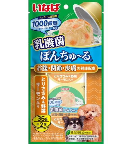 [강아지용] 이나바 유산균 퐁츄르 (유산균1000억-장/관절/피부 케어) - 닭가슴살&채소&연어