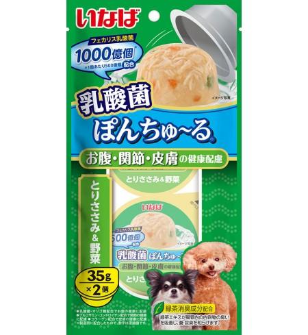 [강아지용] 이나바 유산균 퐁츄르 (유산균1000억-장/관절/피부 케어) - 닭가슴살&채소
