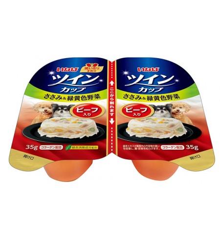 [강아지용] 이나바 트윈컵 - 닭가슴살&녹황색채소&비프