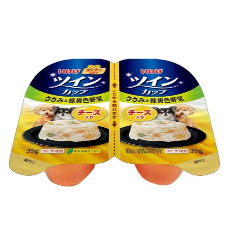 [강아지용] 이나바 트윈컵 - 닭가슴살&녹황색채소&치즈