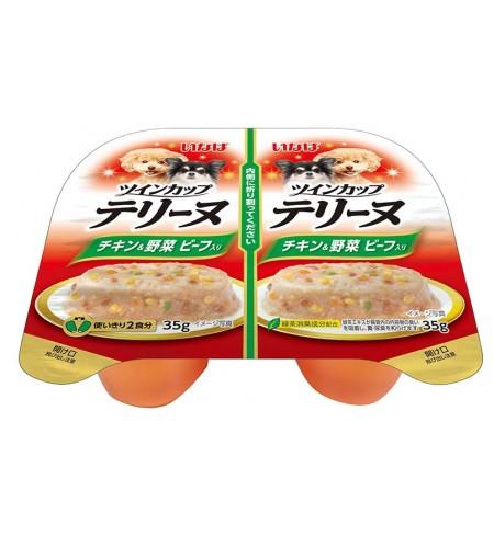 [강아지용] 이나바 트윈컵 테린 - 닭가슴살&채소&비프